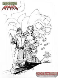 WARBIRDS of MARS - Beasts Incarnate cover inks by DocRedfield