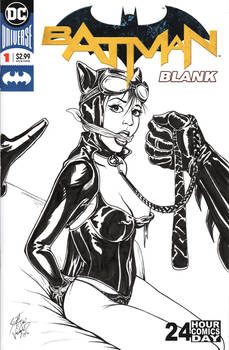 BATMAN BLANK Sketch Cover - Catwoman Bound