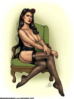 Tayler as Josie Taylor PinUp - Color by DocRedfield