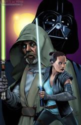 STAR WARS - Luke Rey and Vader