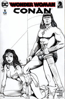 Wonder Woman and Conan #1 Sketch Cover