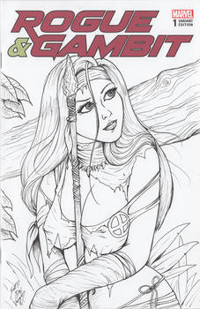 Rogue and Gambit#1 Sketch Cover