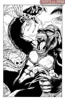 KICKSTARTER COMMISSION - Kong Vs SkullSpiders