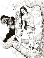 Jungle Princess Daphne 01 by DocRedfield