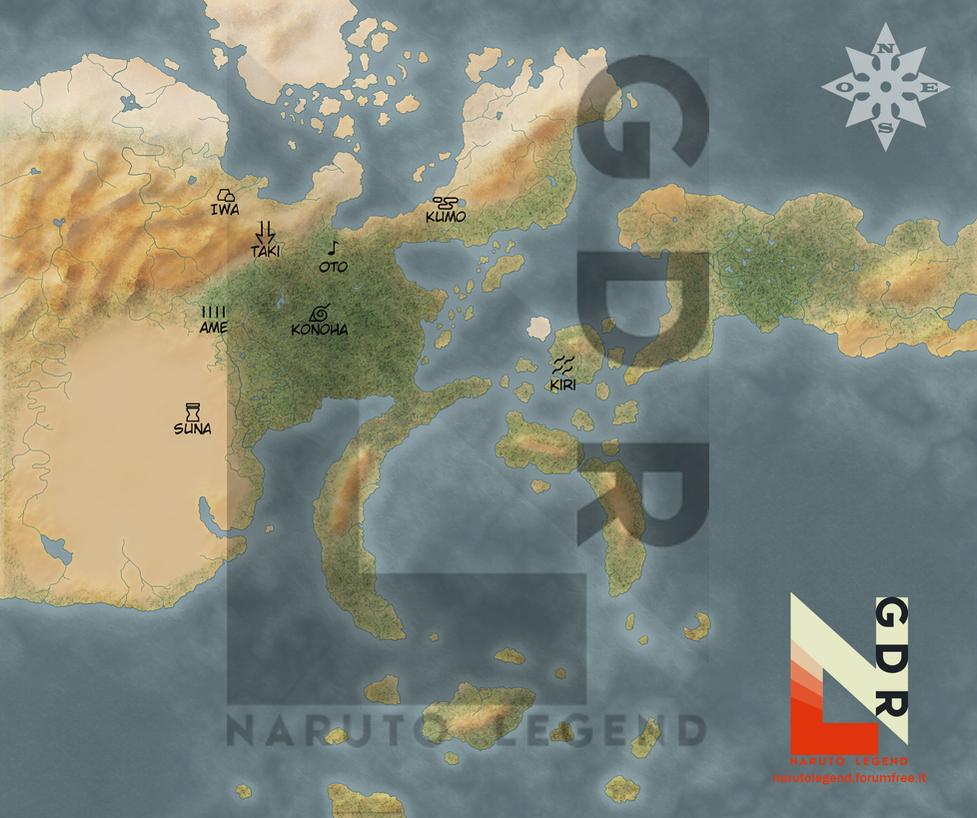 Naruto World Map - NarutoLegend by SharinganKaworu