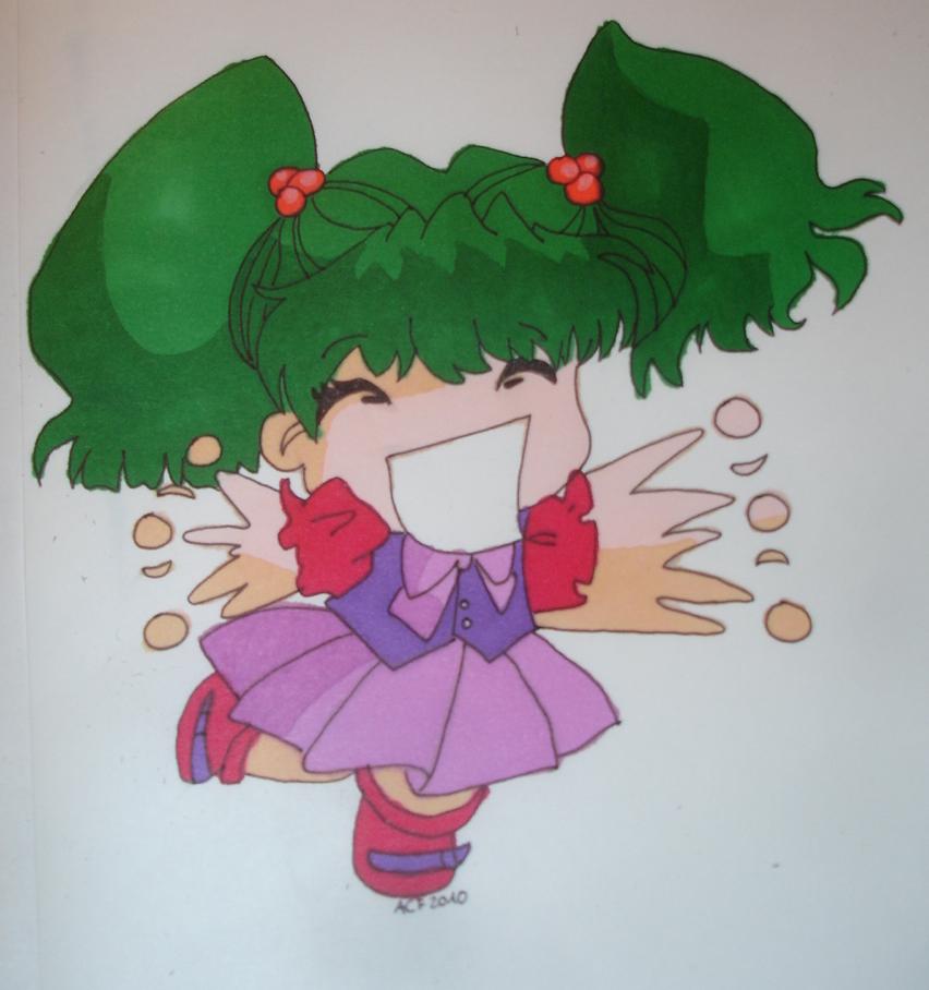 chibi girl happy by ann-chris on deviantART