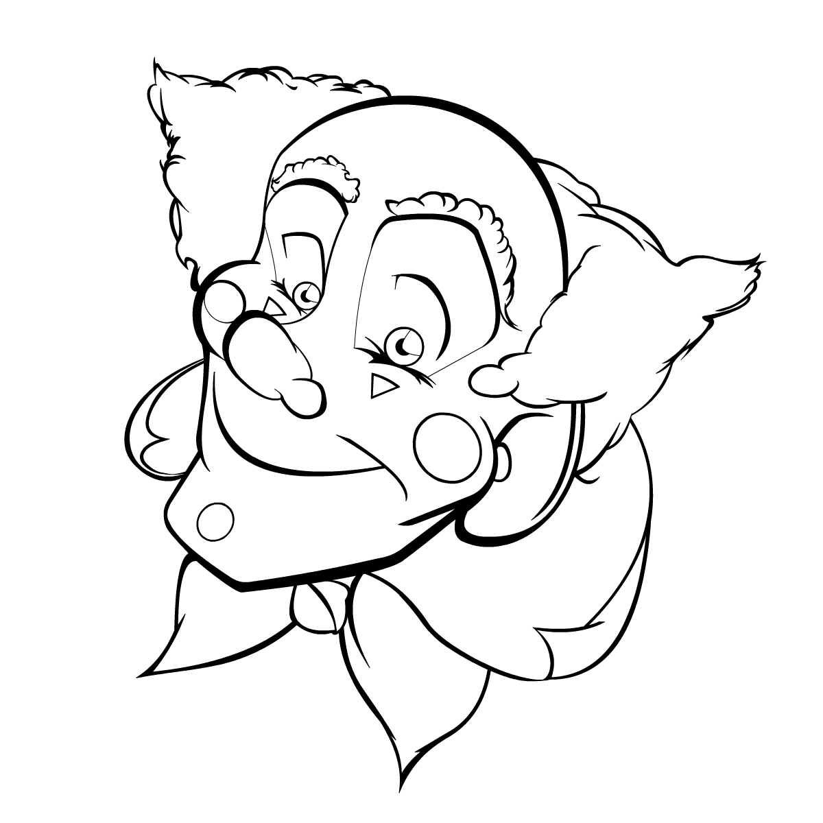 coloring pages clowns - happy clown by aaronmizuno on deviantart
