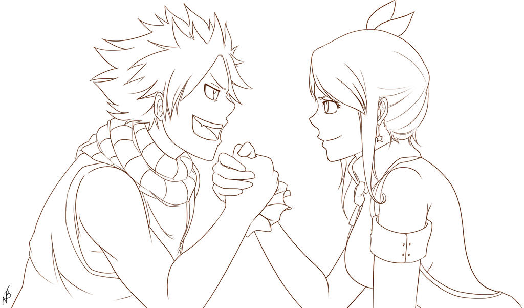 Lineart fanart lucy and natsu fairy tail by nicky - Lucy fairy tail drawing ...