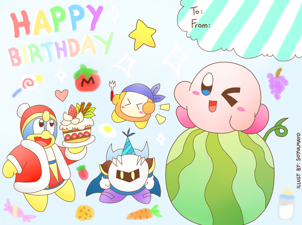 Kirby Birthday Card by soyulmayo