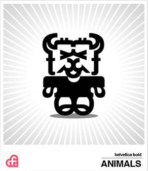 helvetica bold Animals