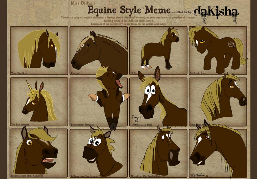 Equine Style Meme by daKisha