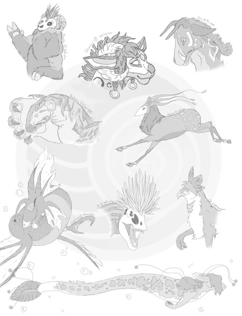 Stormsherr Pard - Spirit Form Sketches by daKisha