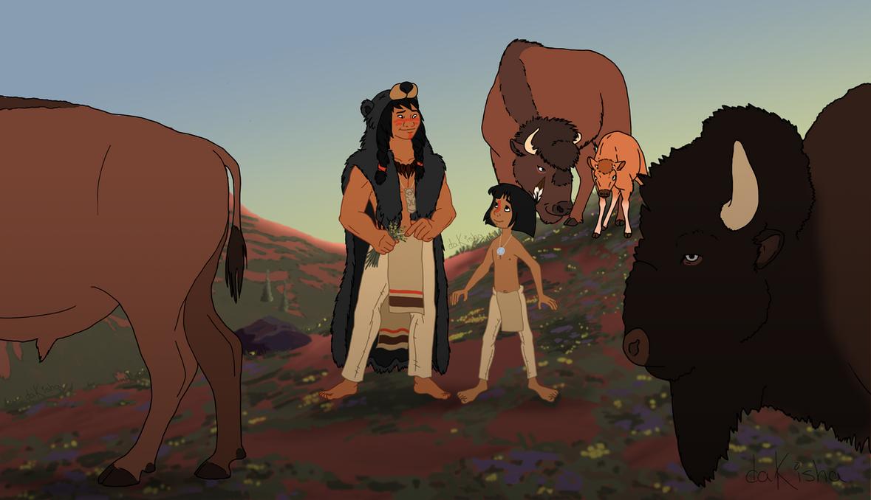 Western Disney - A Shaman and His Apprentice by daKisha
