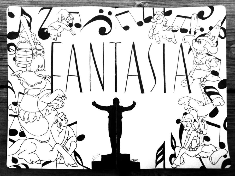 Fantasia in INK by daKisha