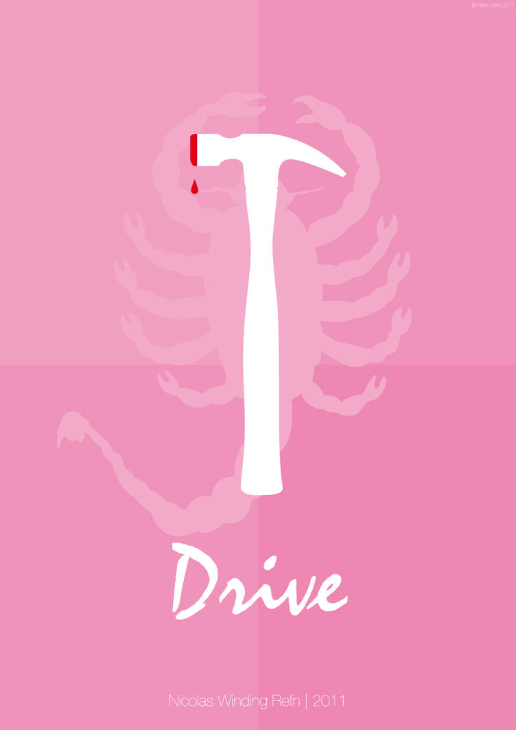 Drive movie poster - pink plain by ~pio1976
