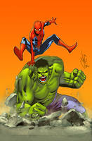 Spidey and Hulk by TeoGonzalezColors