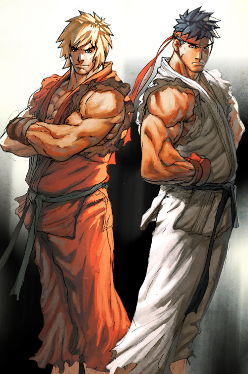 ryu and ken by deffectx