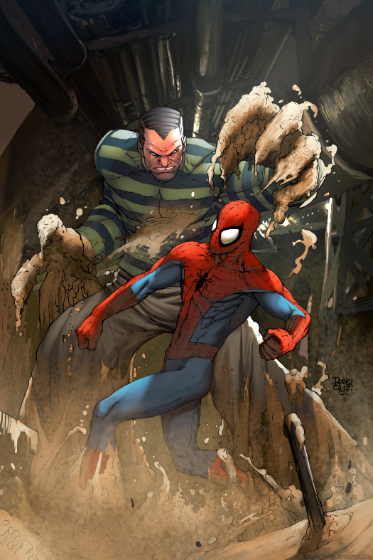 sandman and spiderman by deffectx