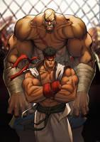 FIGHT street fighter sagat by TeoGonzalezColors
