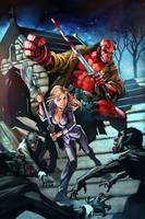 Buffy and Hellboy RandyGreen by TeoGonzalezColors