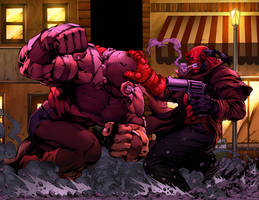 Juggernaut Vs Hellboy By Sketch515a by TeoGonzalezColors