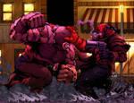 Juggernaut Vs Hellboy By Sketch515a