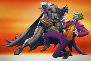Batman and joker by TeoGonzalezColors