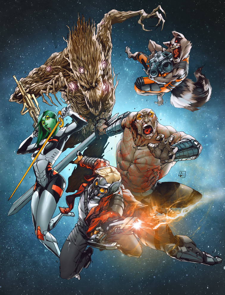 Guardians of the Galaxy Poster by deffectx