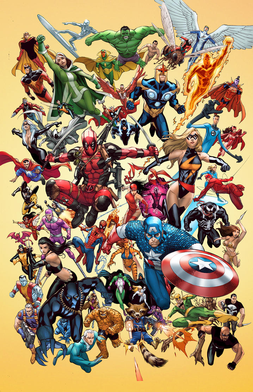 Ausmalbilder Marvel Helden Angel: Marvel Poster By TeoGonzalezColors On DeviantArt
