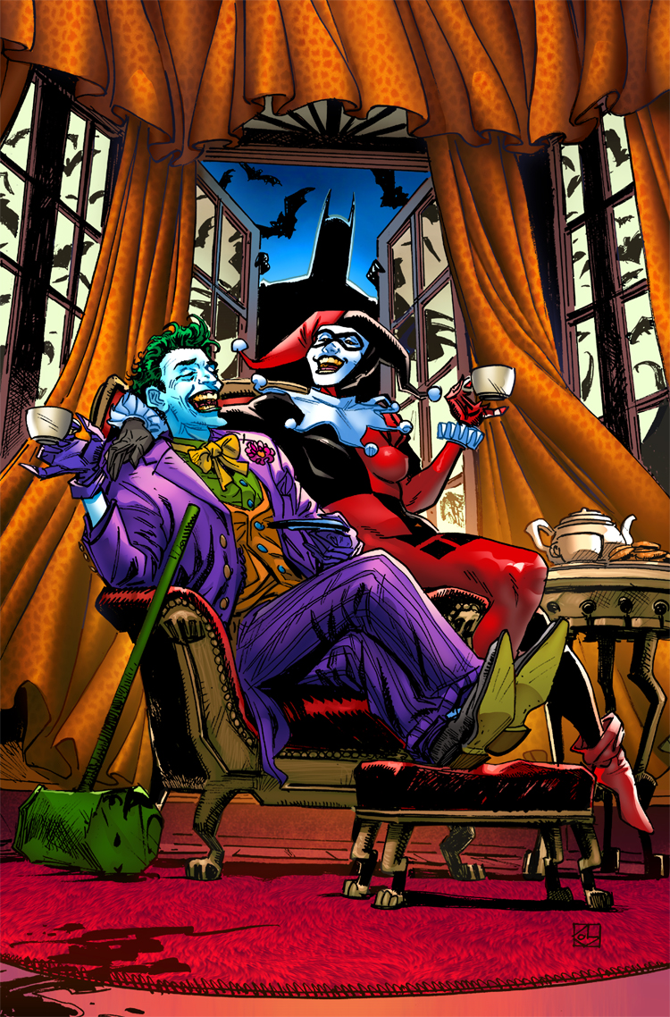 Joker and Harley by TeoGonzalezColors