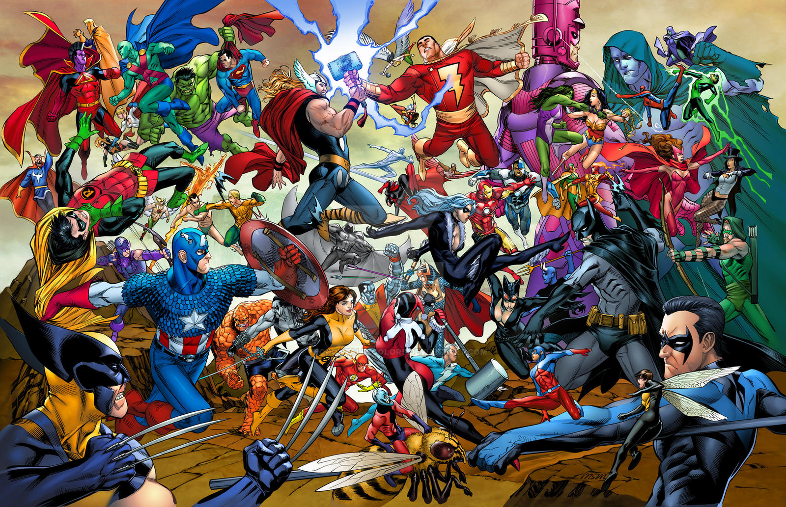 Marvel vs DC poster by TeoGonzalezColors