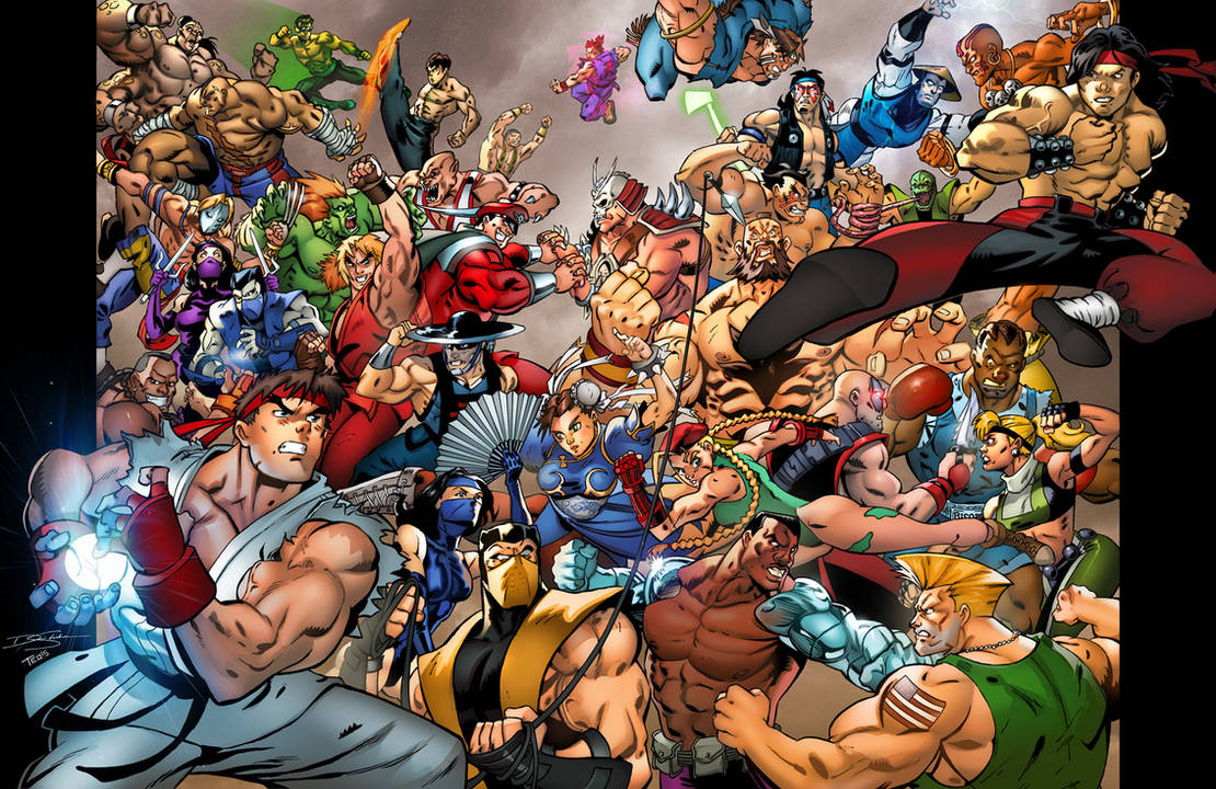 Mortal Kombat Vs Street Fighter Commission By Teogonzalezcolors On Deviantart