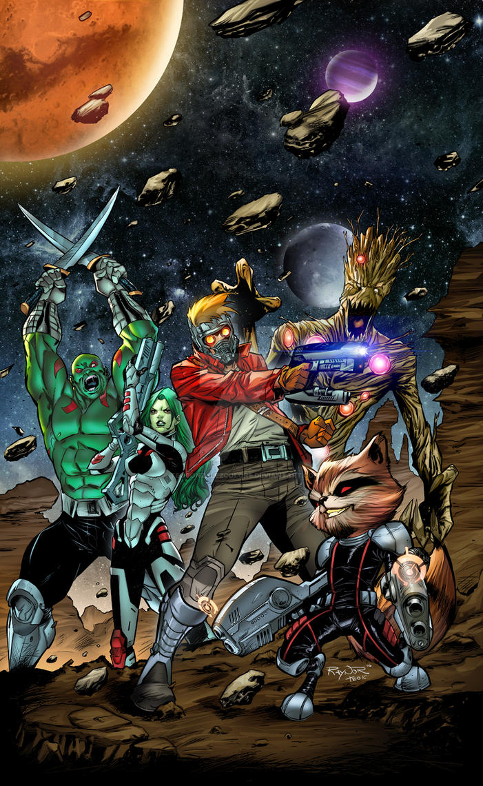Guardians Of The Galaxy by Peskykid by TeoGonzalezColors