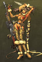 The War Frida ElSevilla by TeoGonzalezColors