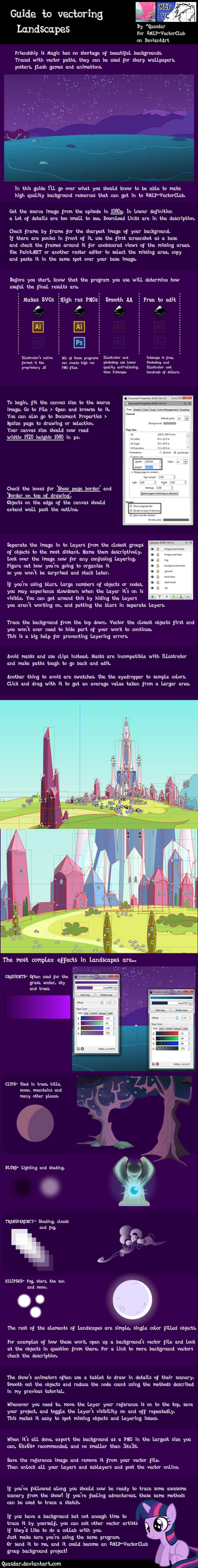 Vector Guide #3: Landscapes and special effects by Quasdar