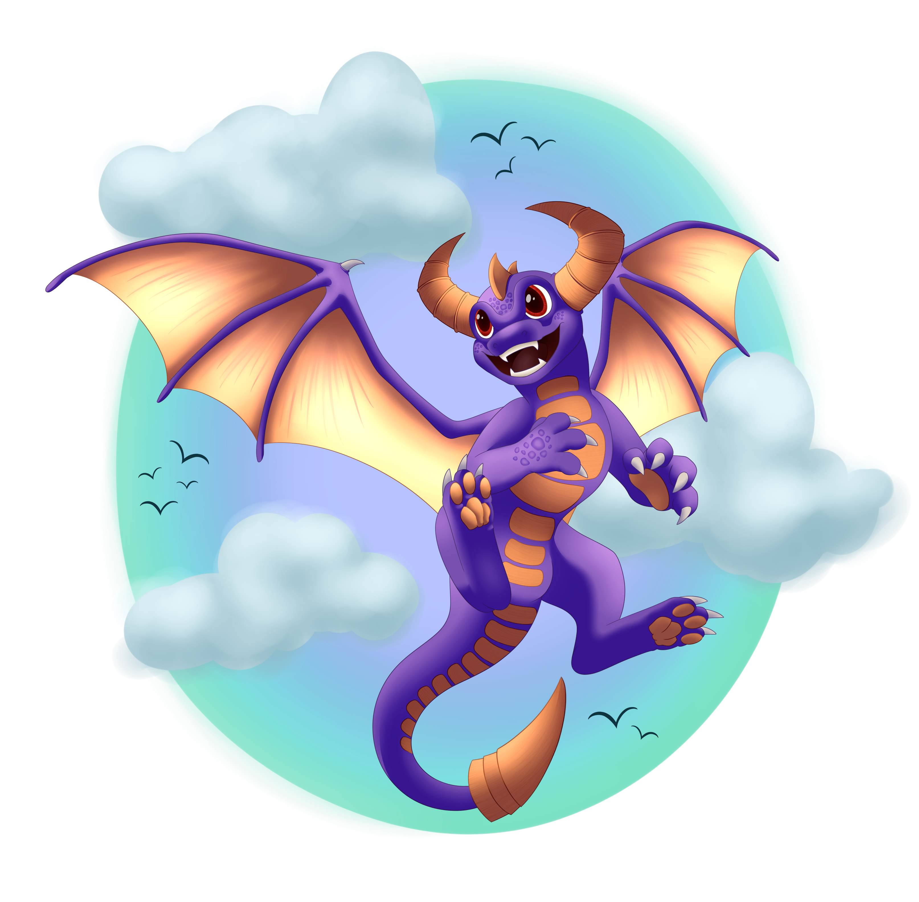 skylander spyro fan art on dragon fun place deviantart