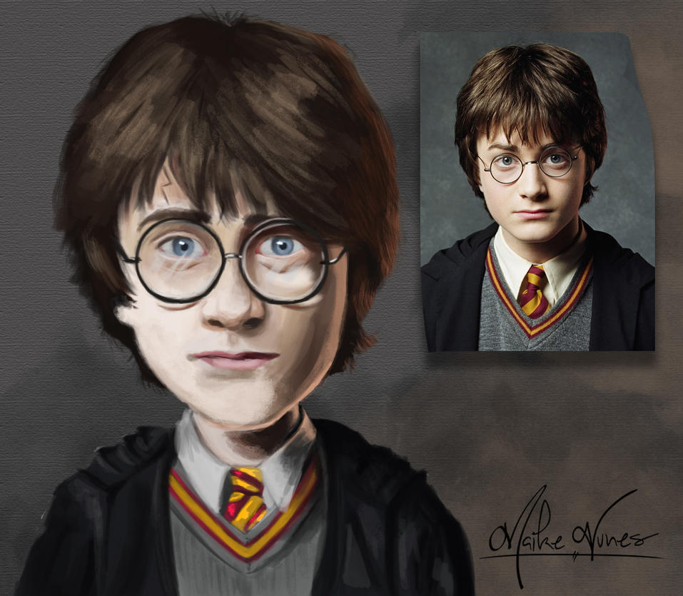 Harry Potter - year 1 - Caricature by TheMaikeNunes