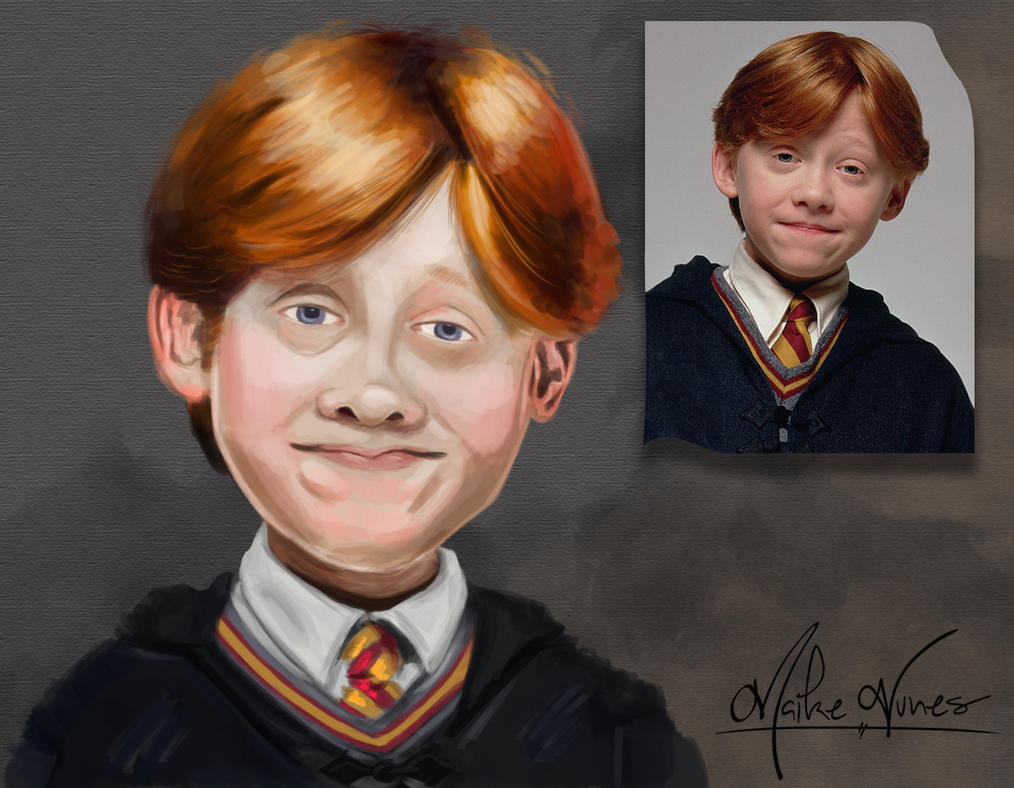 Rony Weasley - year 1 - Caricature by TheMaikeNunes