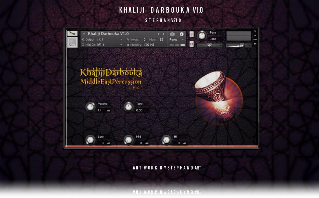 Khaliji Darbouka V1.0 for kontakt by stephanoart