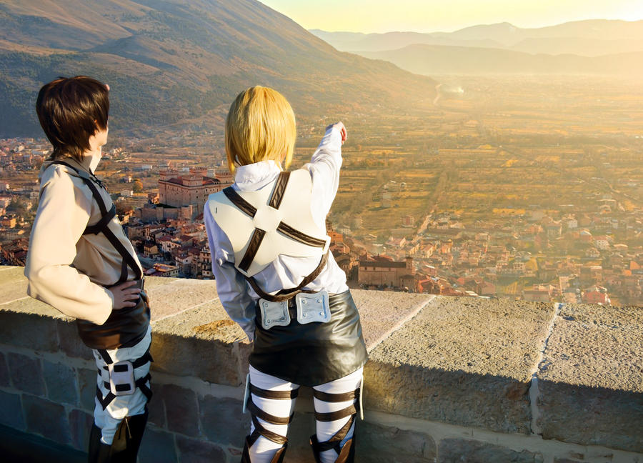 Attack on Titan - Trost district by HauntedKing