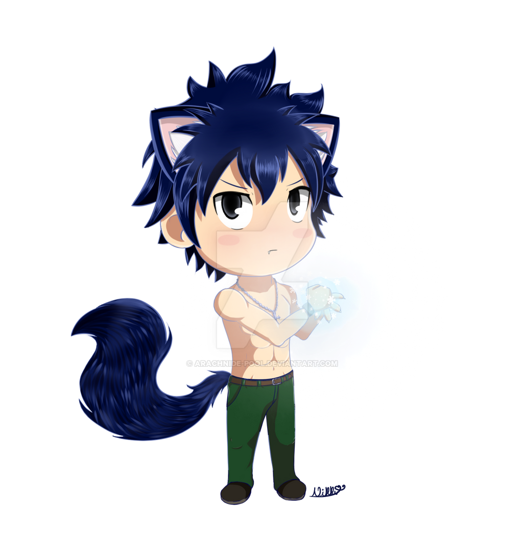 wolf gray fullbuster ice make by arachnidepool on deviantart