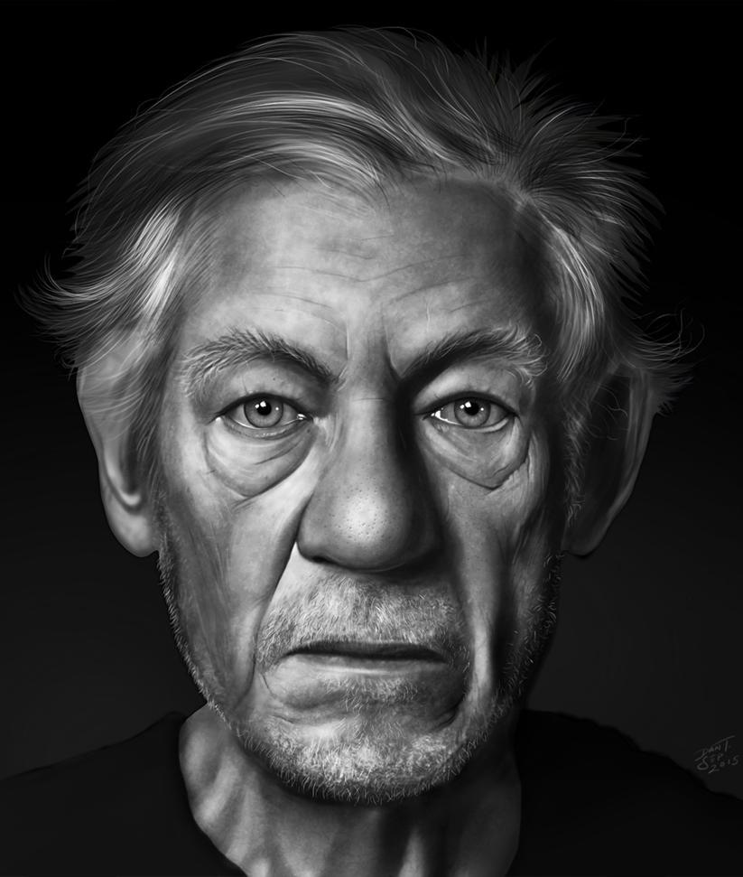 Ian McKellen by ChuddmasterZero