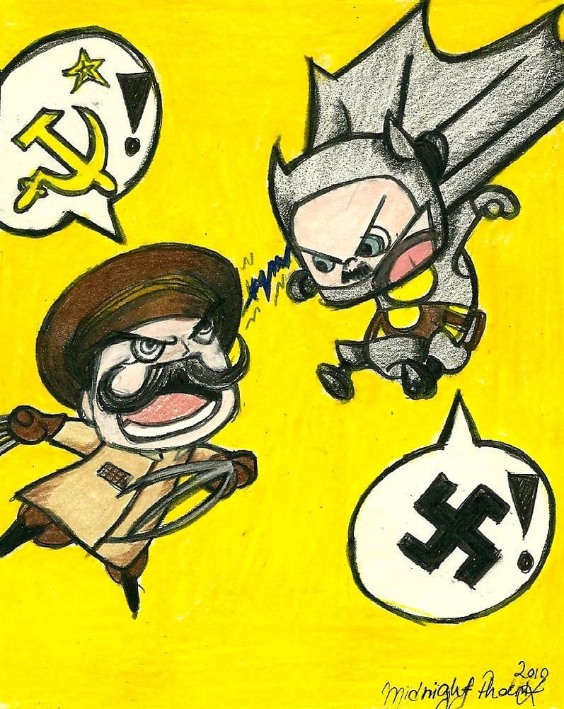 Stalin Wolverine V. Bat Hitler by MidnightPhoenixx