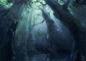 Forest Glade by sketchling