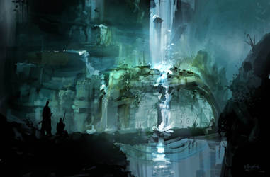 waterfall by sketchling