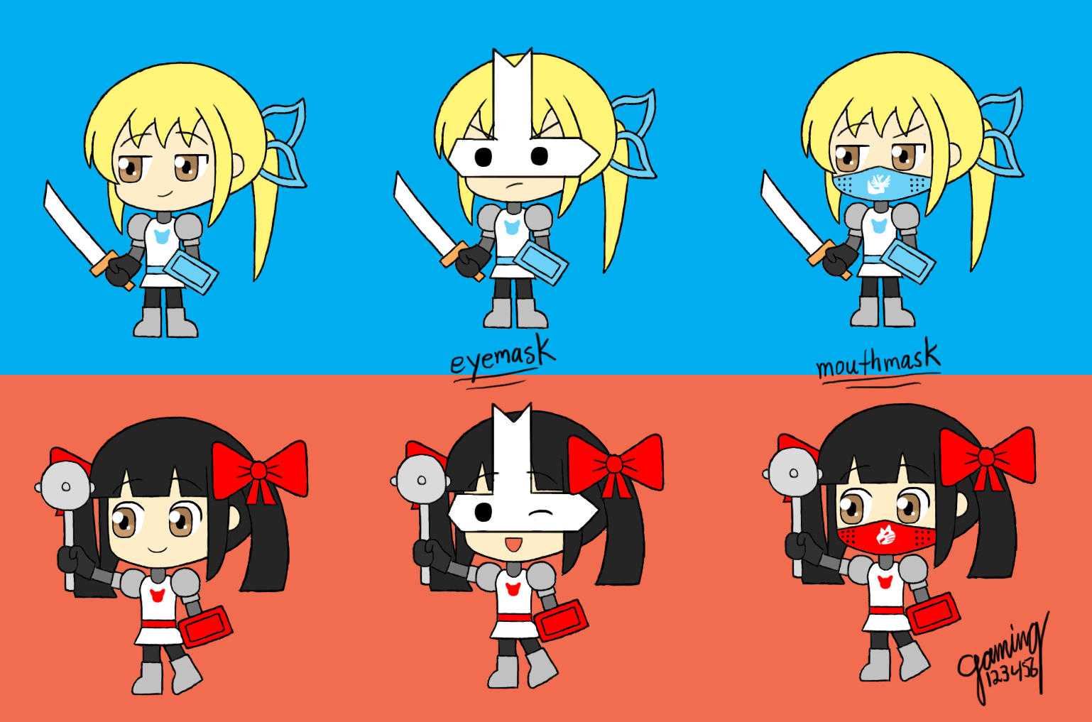 Castle crashers musou variations by gaming123456 on - Castle crashers anime ...