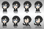 Kingdom Hearts *Xion* (Expression Sheet)