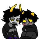 HS: Shimeji - Gamzee and Karkat by Ryush