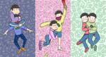 Osomatsu-san: OTP x 3