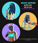 NEW PRINTS! Ancient Egyptian Gods On Vacation by RyuichirouAoino
